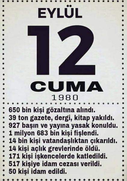 12 Eylül 1980